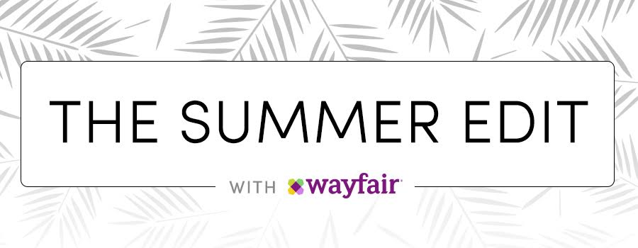The Summer Edit with Wayfair logo