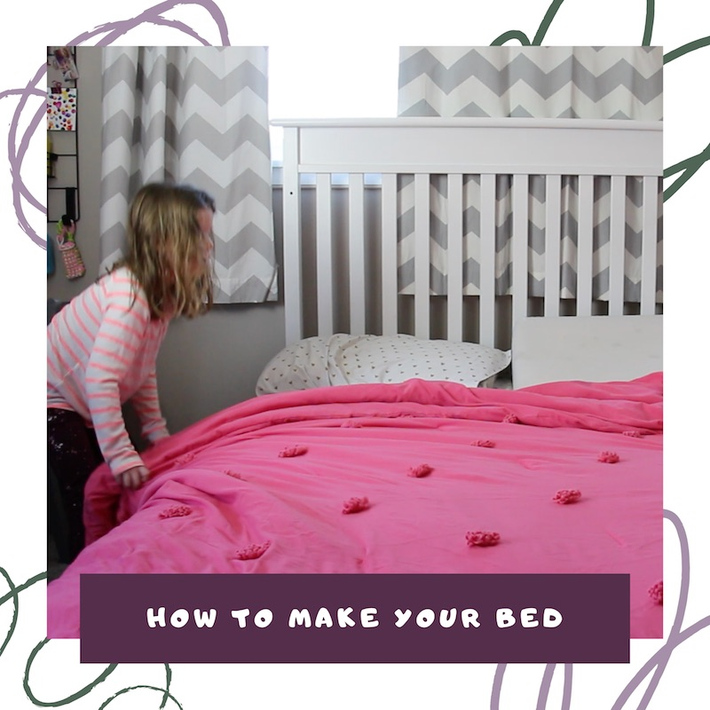 how to make the bed the organized kids link to video