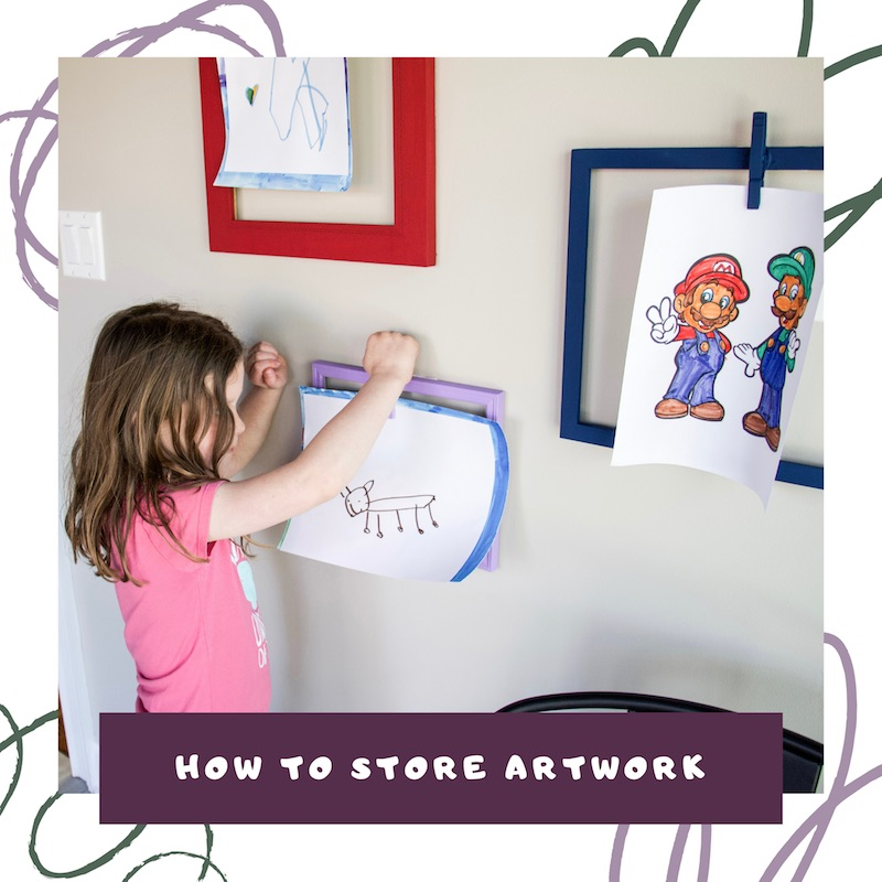 how to store artwork