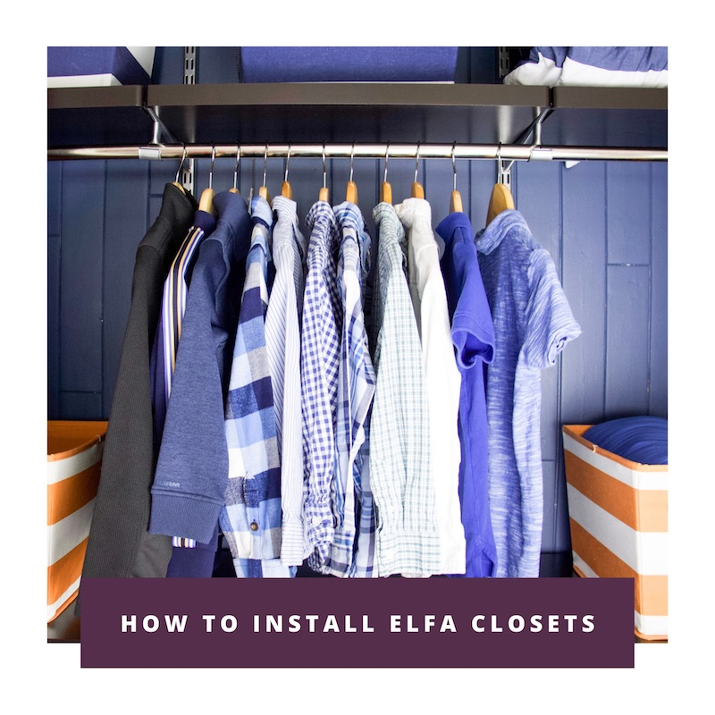 how to install elfa closets link to youtube video