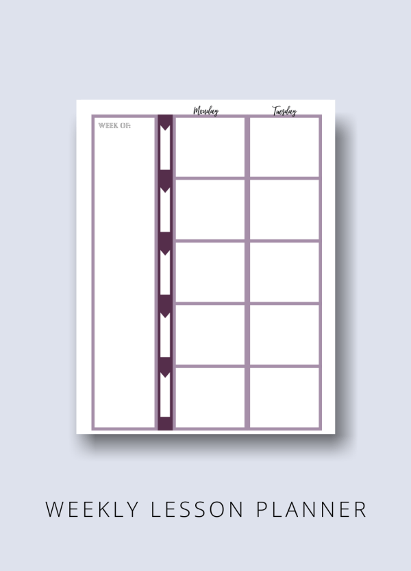 homeschool planner 2 page layout undated