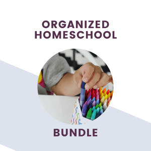 The Organized Homeschool Bundle Pack text + graphics