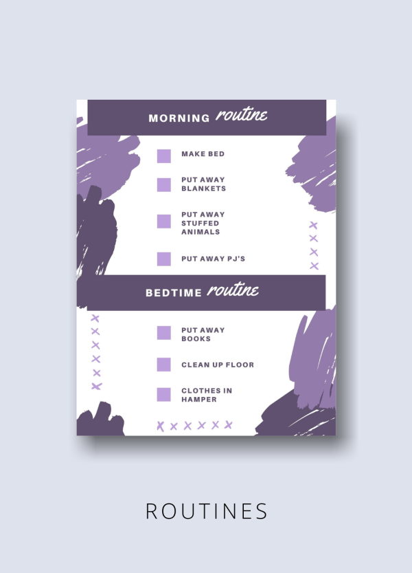 routines printable kids productivity pack