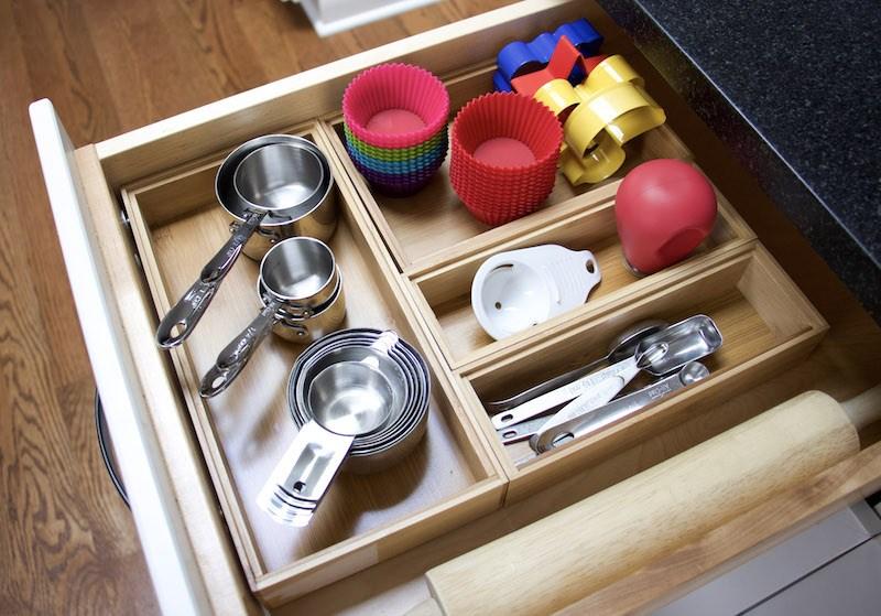Kitchen supplies in a drawer
