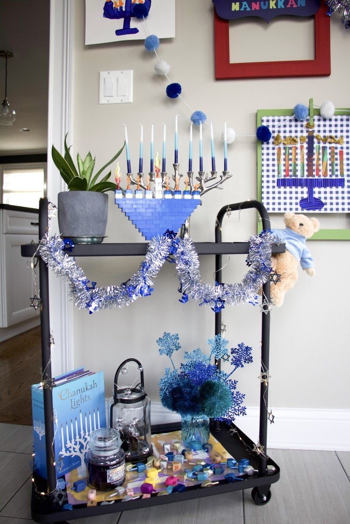 hanukkah cart and art