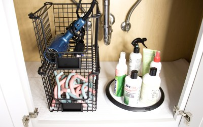 Why You Should Use Shelf Liners Under Your Bathroom Sink