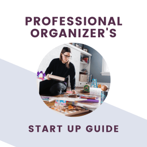 how to start organizing business graphic and text