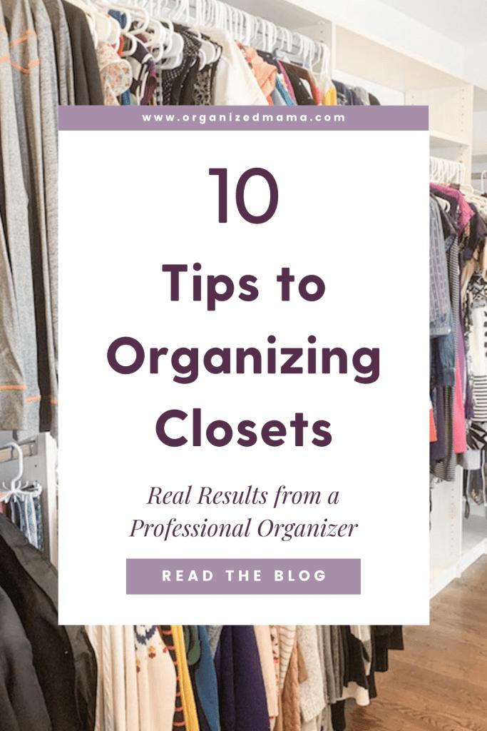 Organizing Closets Pin