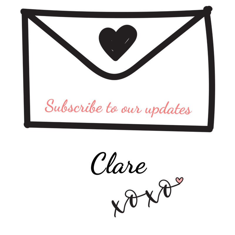 sparkling clean windows . Envelope with heart and  subscribe to our updates written on.