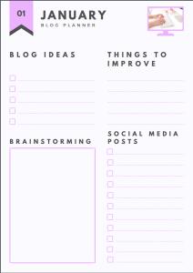 FREE Blog planner !