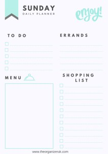 free daily printable planner