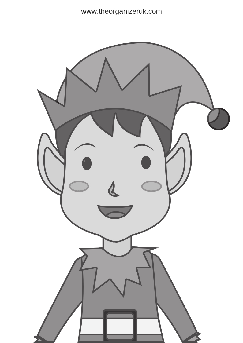 elf colouring pages picture of a boy elf to colour