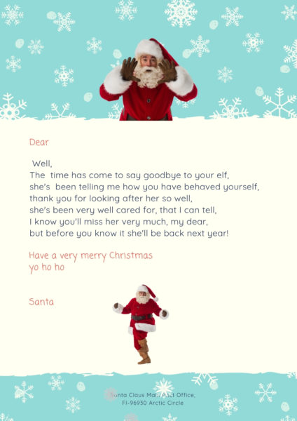 image about Elf on the Shelf Goodbye Letter Free Printable titled How Toward Create An Elf Upon The Shelf Goodbye Letter.