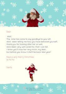 girl elf on the shelf goodbye letter free printable