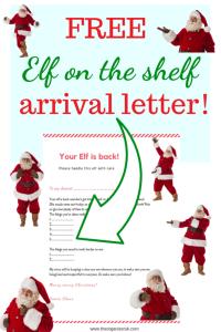 free elf arrival letter
