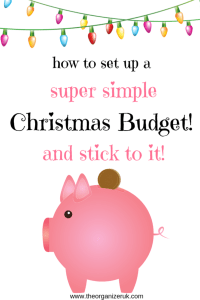 how to set up a Christmas budget piggybank with Christmas lights