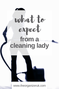 What to expect from a cleaning lady Pinterest image .