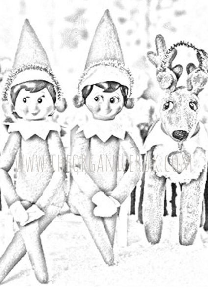 Elf on the Shelf Coloring Sheets | Coloring pages, Coloring pages ... | 600x424