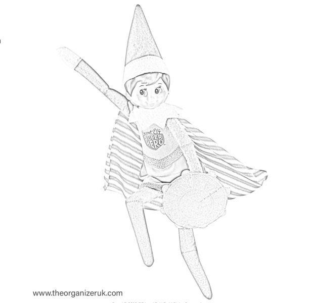Free Printable Elf Coloring Pages For Kids | 600x619