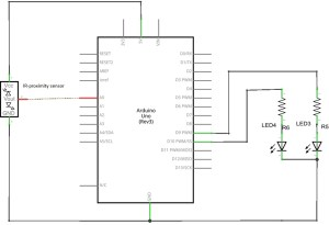 Proximity (GP2Y0A21YK ) distance Sensor with Arduino