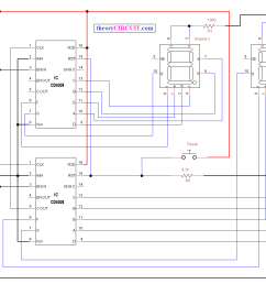 circuit diagram seven segment visitors counter new [ 1273 x 933 Pixel ]