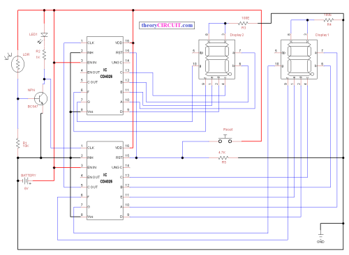 small resolution of circuit diagram seven segment visitors counter new