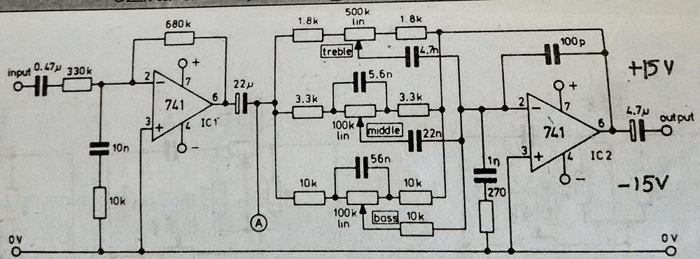 active audio tone control