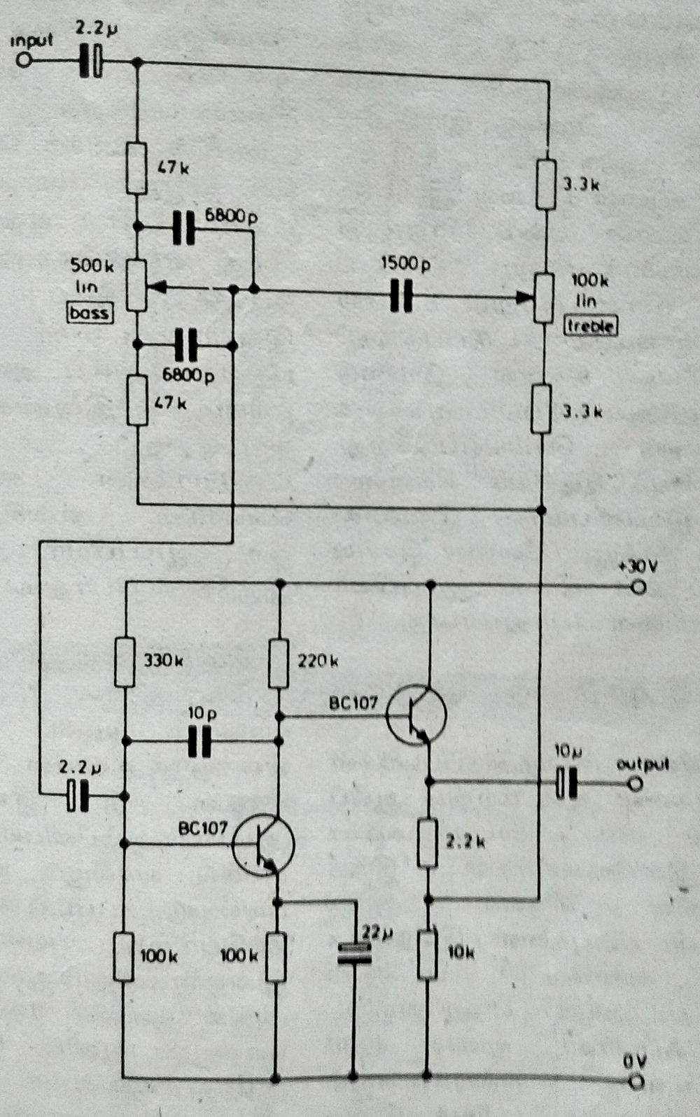 hi fi tone control with transistors