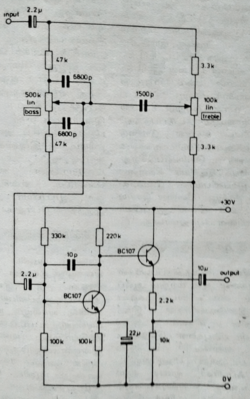 small resolution of two transistor tone control circuit