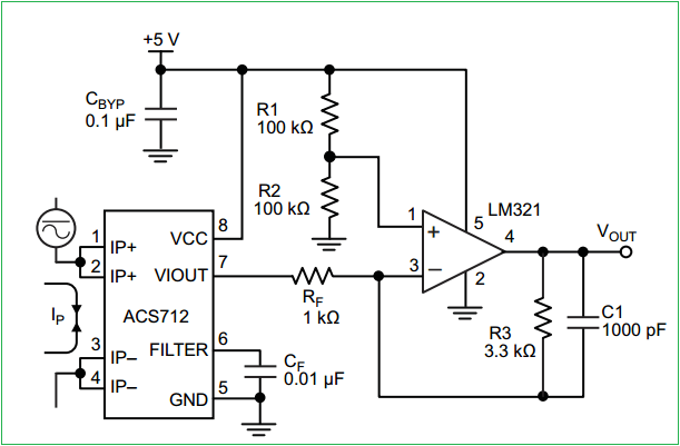 Hall Effect Current Sensor Circuit Diagram