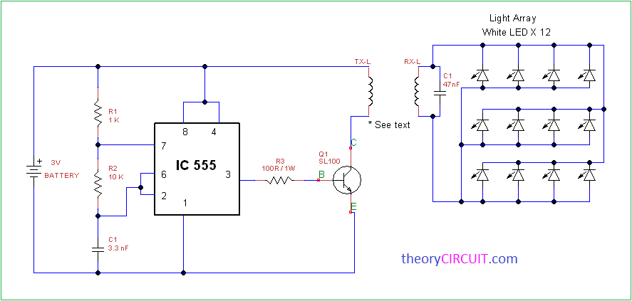 wireless power transmission circuit diagram 2004 chrysler sebring fuse box light array using ic555 led