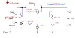 PhaseNeutralEarth Fault Indicator Circuit