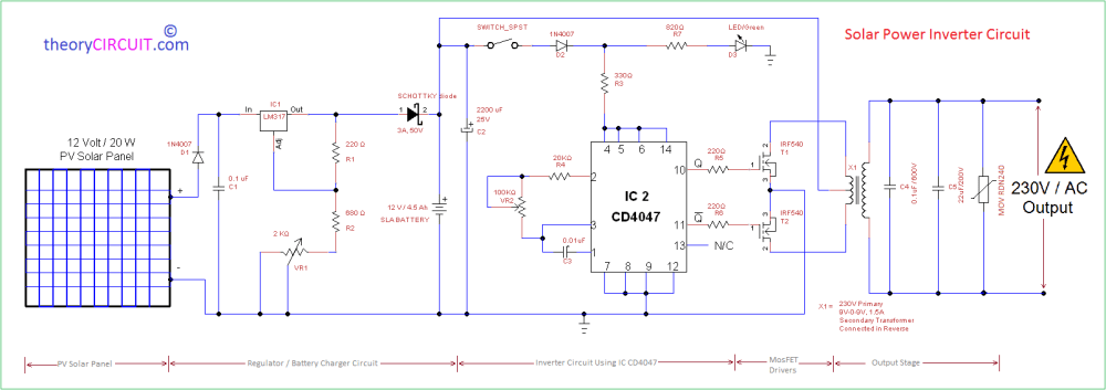 medium resolution of pv solar inverter circuit diagram circuit for battery charger circuit diagram of dc to ac inverter source automatic 12v