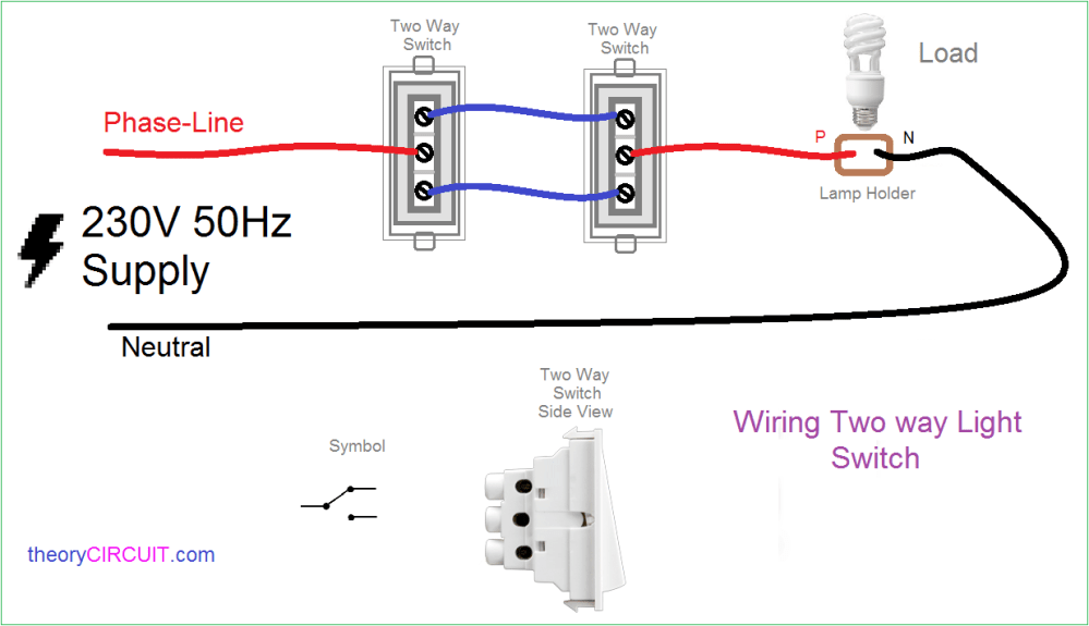 medium resolution of two way light switch connection wiring diagram two switches controlling one light two switches one light diagram