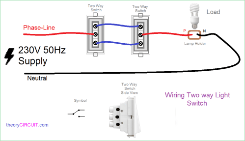small resolution of two way light switch connection wiring diagram two switches controlling one light two switches one light diagram