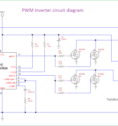 pwm inverter circuit diagram using ic sg3524 and mosfet [ 1363 x 715 Pixel ]