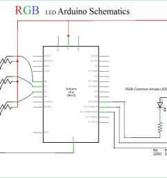 rgb led arduino rgb led with arduino schematic [ 1310 x 942 Pixel ]