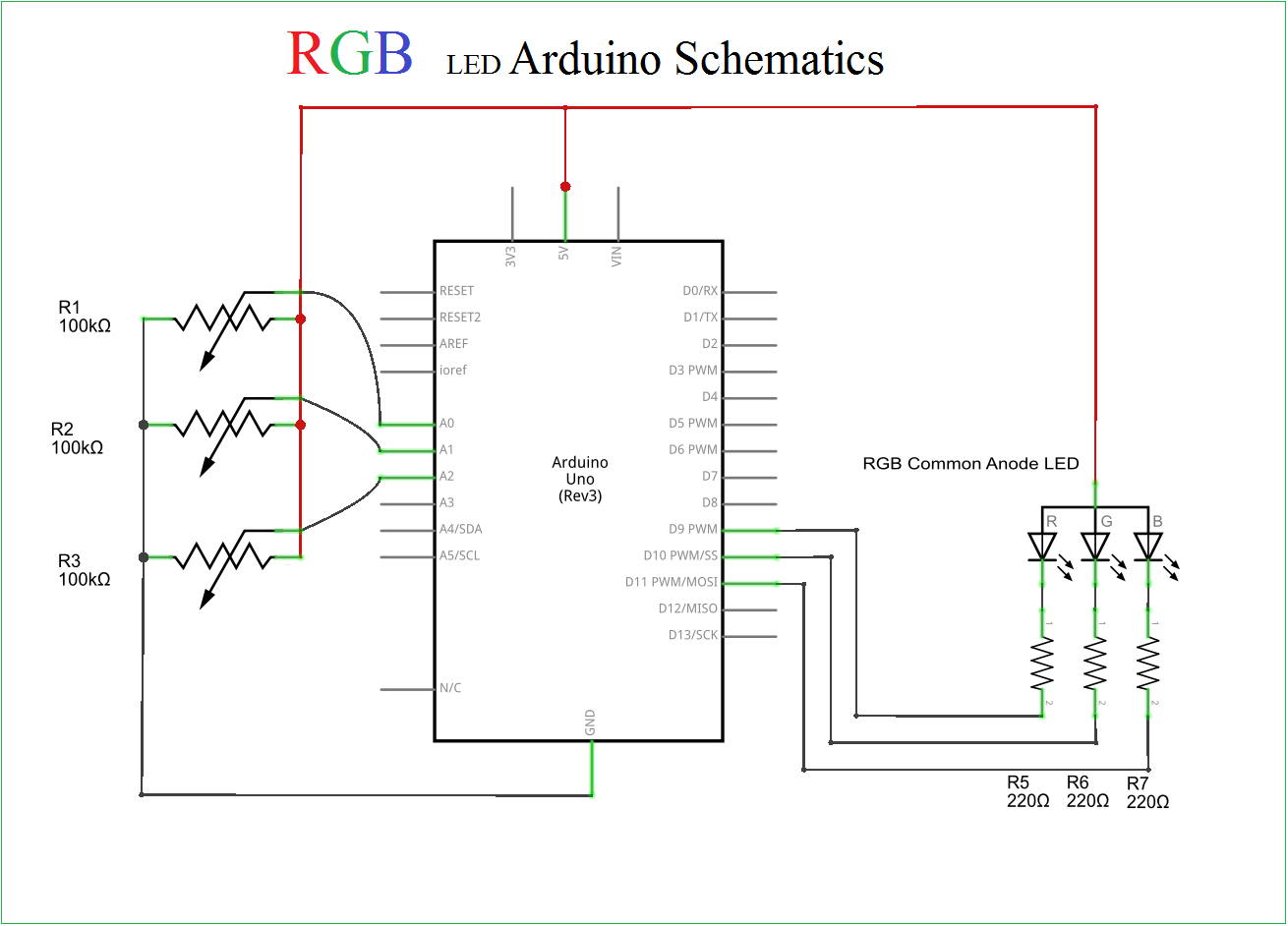 hight resolution of rgb led arduino rgb led with arduino schematic