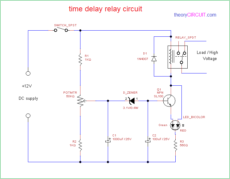 time delay relay circuit diagram grow model