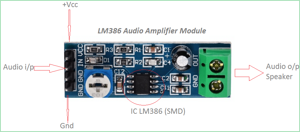 Compact Power Amplifier Based Lm386