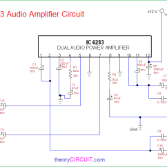 Audio Amplifier Circuit Diagram With Layout Wiring Two Way Dimmer Switch 6283