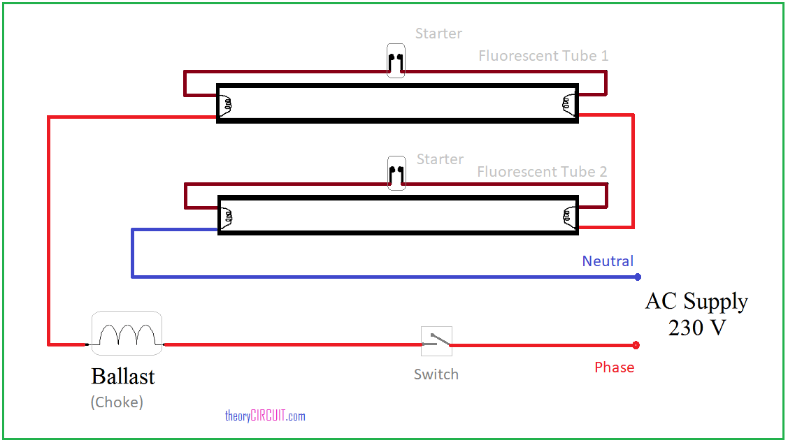 fluorescent wiring diagram with starter