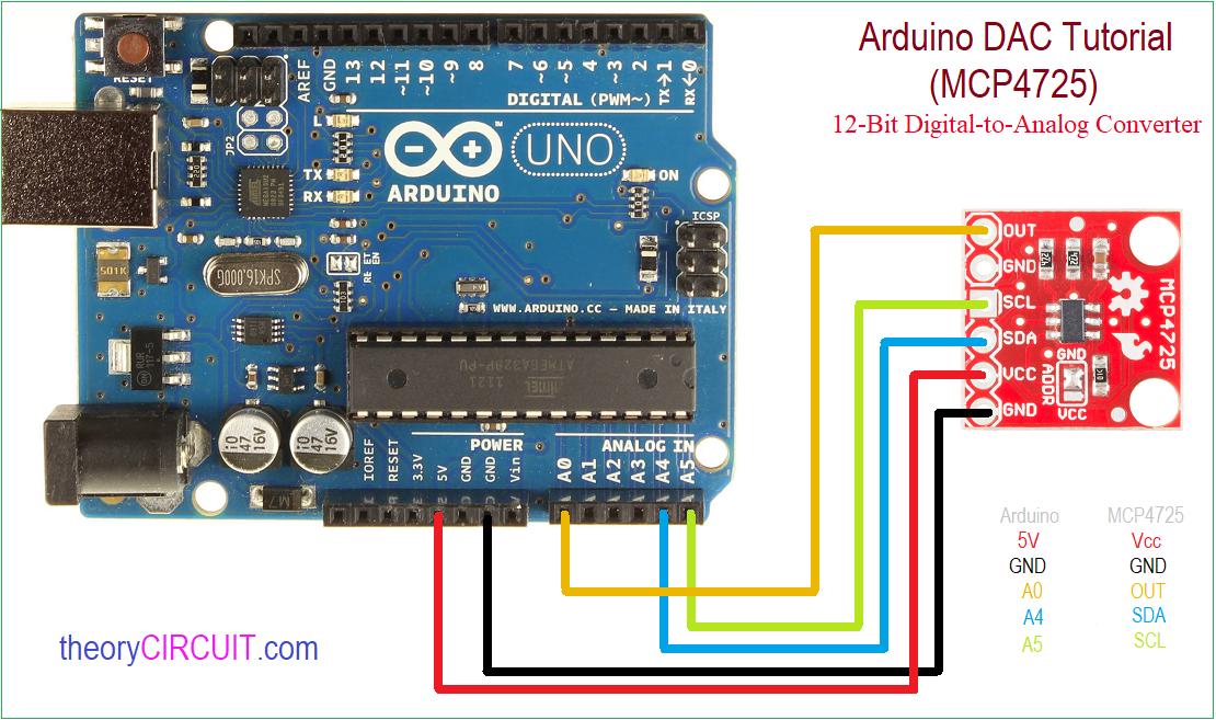 4 Schematic Wiring Diagram Arduino Dac Tutorial