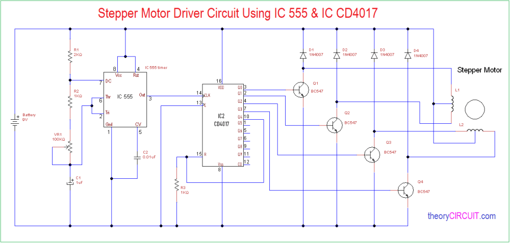 medium resolution of 555 timer stepper motor controller circuit electronic circuit schematic simple motor stepper driver using