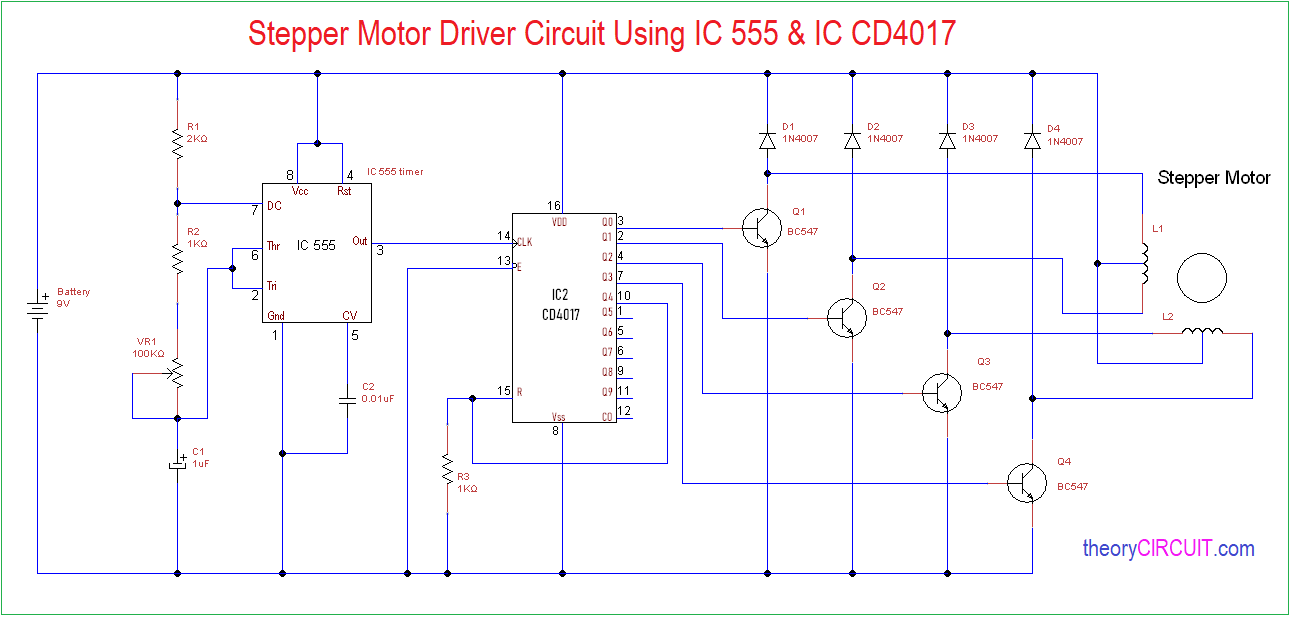 hight resolution of 555 timer stepper motor controller circuit electronic circuit schematic simple motor stepper driver using