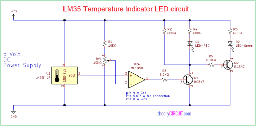 small resolution of lm35 temperature indicator led circuit digital display circuit leds temperature indicator circuit diagram
