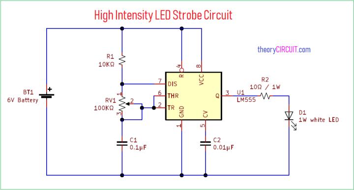 12v Led Strobe Light Circuit Diagram | Shelly Lighting
