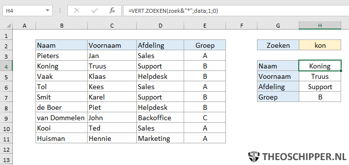 Excel verticaal zoeken tip 17