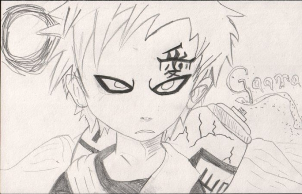 Gaara Coloring Page by missymisty007