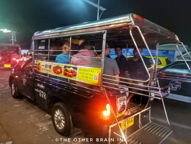 Public transport like this is available till late at night : Girl Gang Trip - Pattaya!